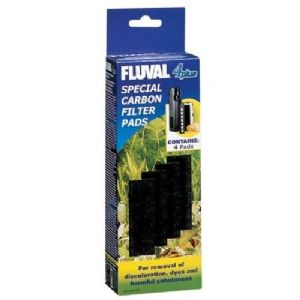 Fluval 4 + Plus Carbon Filter Pads Pack of 4 Genuine Product